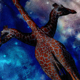 Giraffe Moonlight Mens T-Shirt