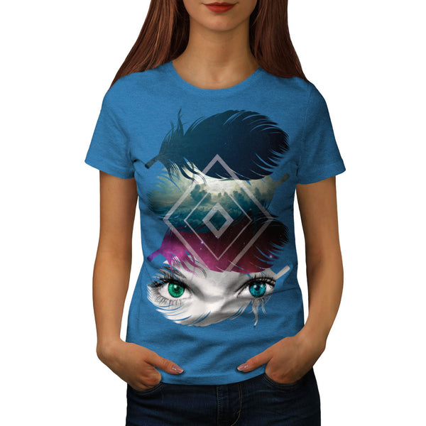 Eye Feather Fantasy Womens T-Shirt
