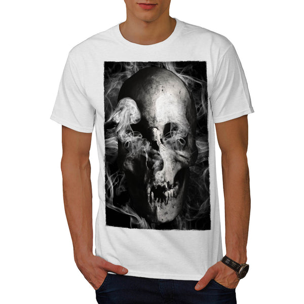 Skull Devil Flames Mens T-Shirt