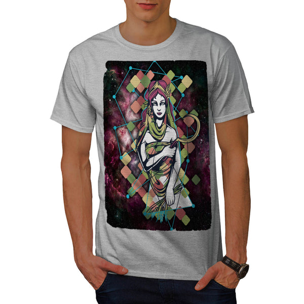 Star Warrior Girl Mens T-Shirt