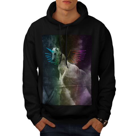 White Pegasus Flight Mens Hoodie