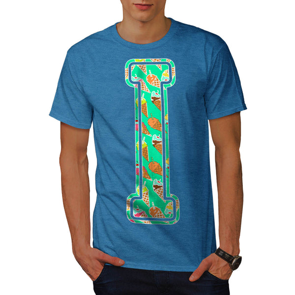 Ice Cream Fan Letter Mens T-Shirt