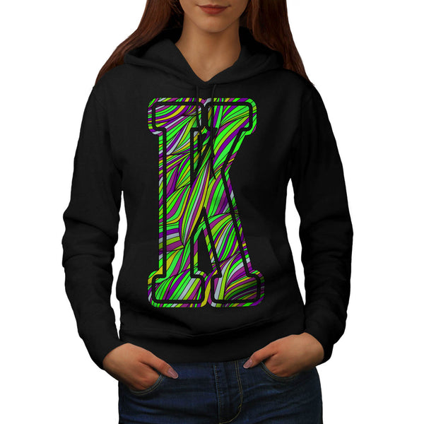 Colourful Letter Womens Hoodie