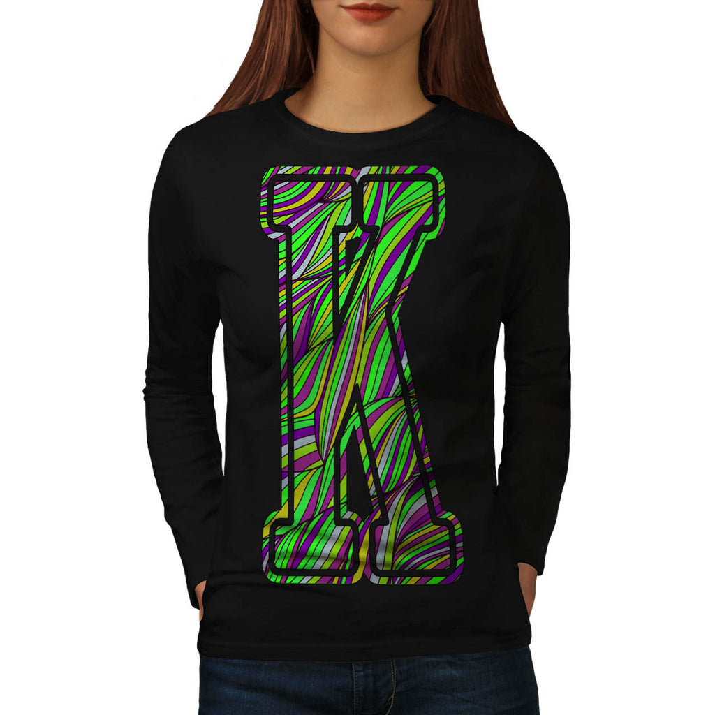 Colourful Letter Womens Long Sleeve T-Shirt