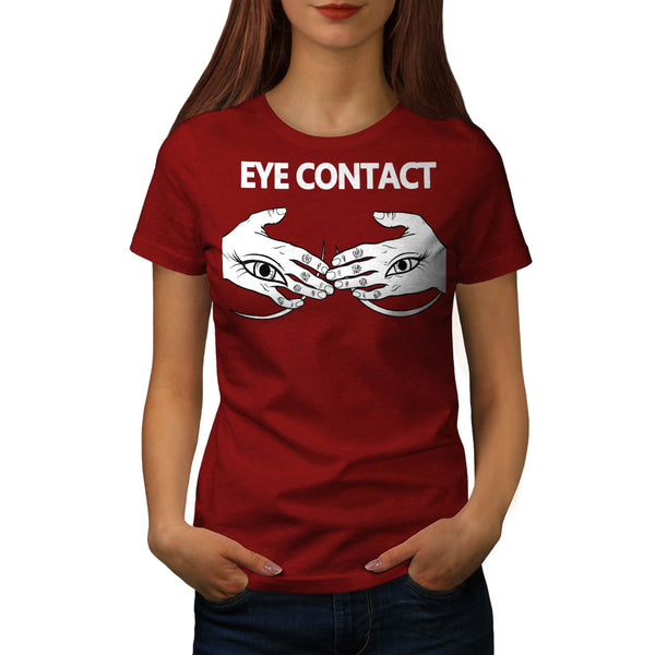 Eye Contact Stare Womens T-Shirt