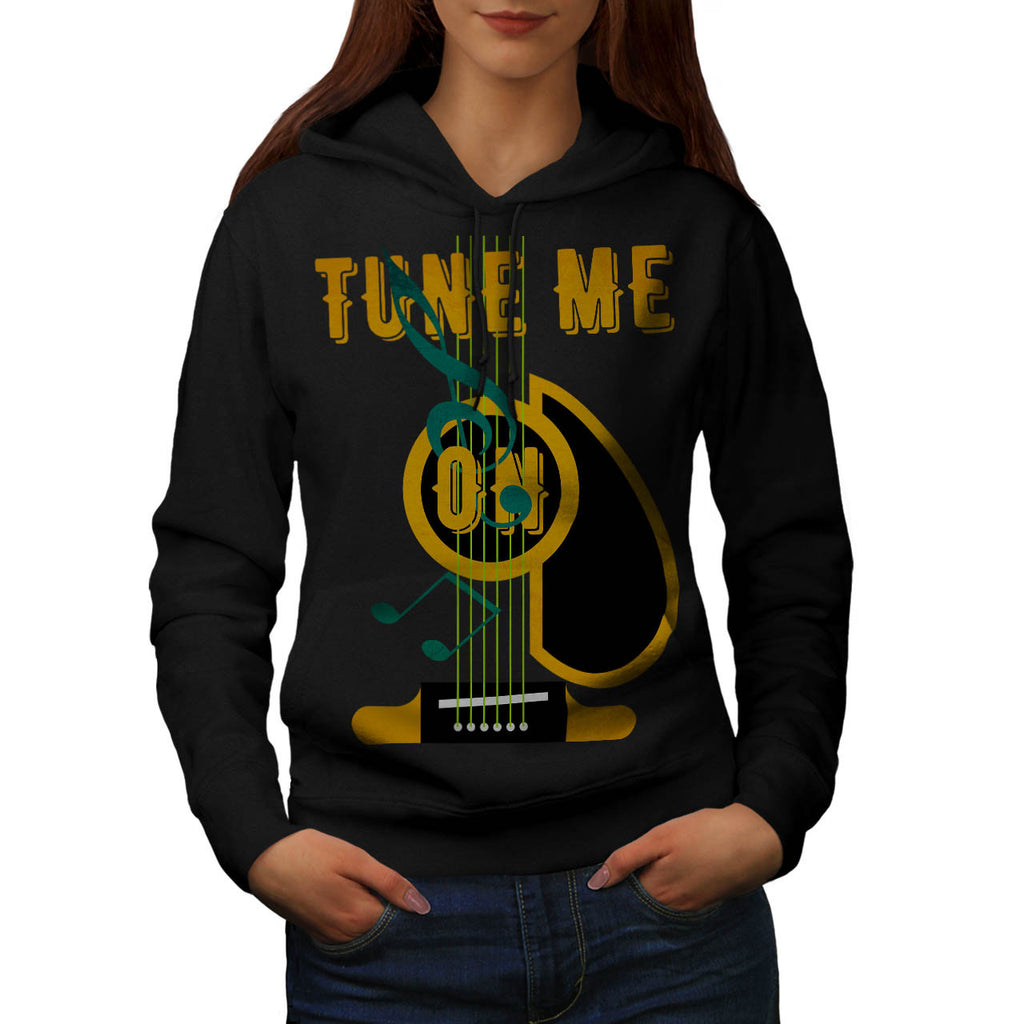 Tune Me On Musical Womens Hoodie