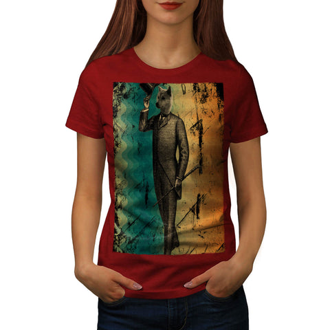 Dandy Gentleman Dog Womens T-Shirt