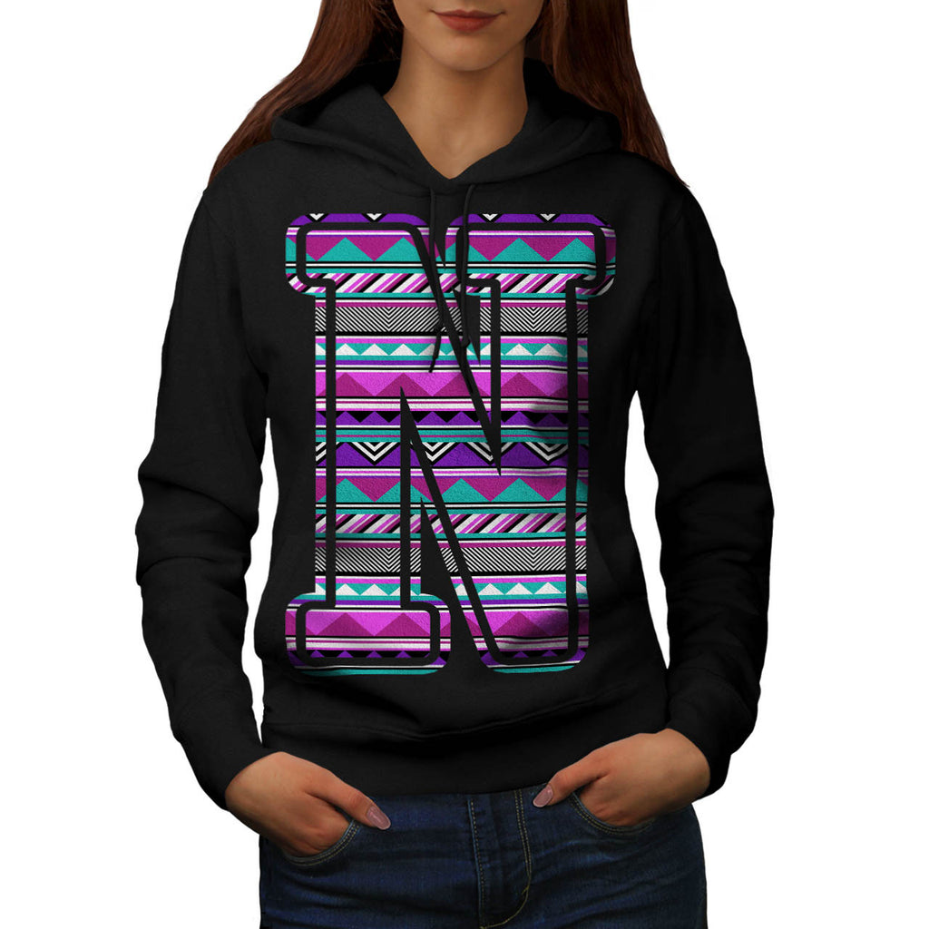 Native Decor Letter Womens Hoodie