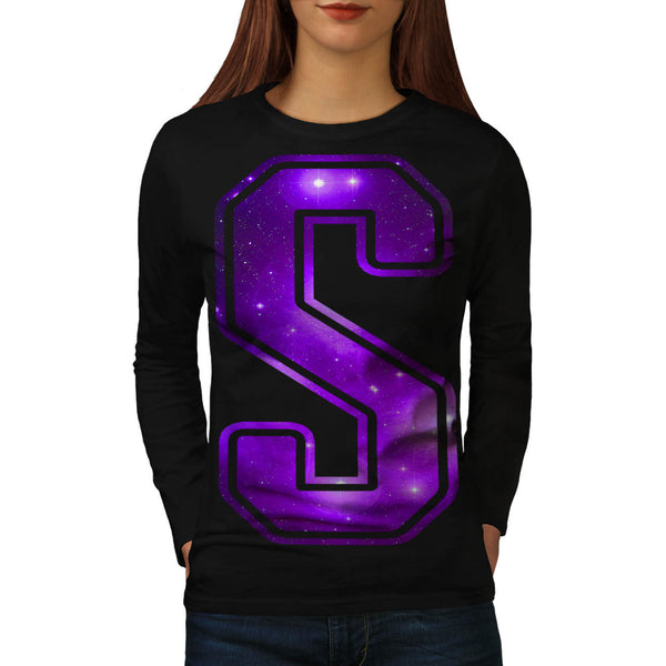 Space Travel Letter Womens Long Sleeve T-Shirt