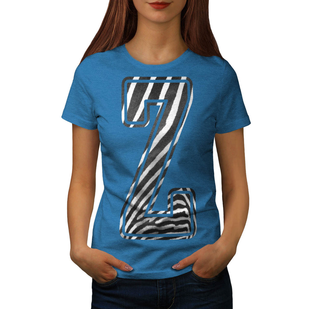 Zebra Pattern Letter Womens T-Shirt