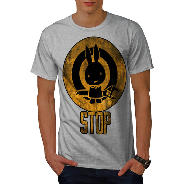 Bunny Rabbit Stop Mens T-Shirt