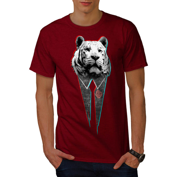 Suit Up Snow Tiger Mens T-Shirt
