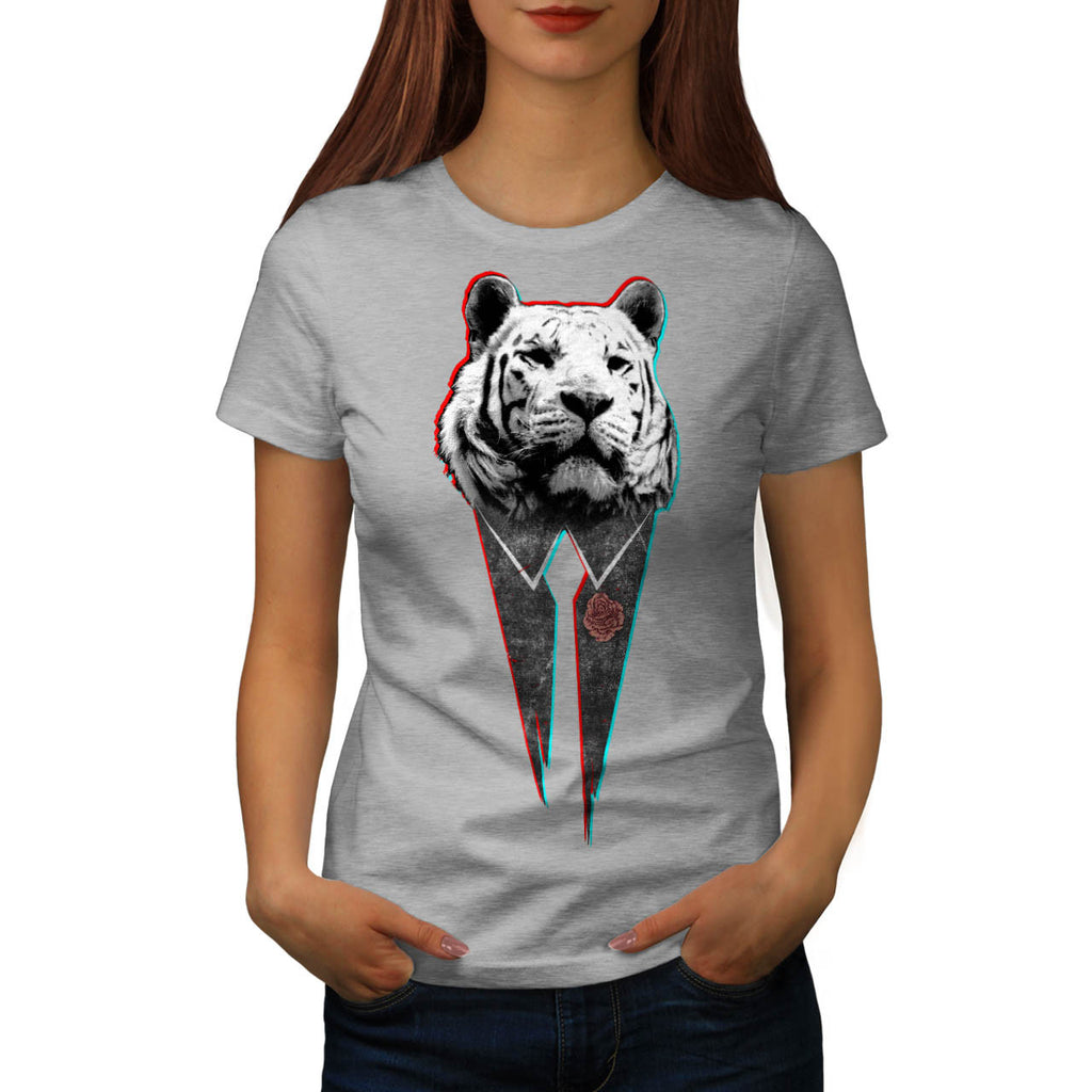 Suit Up Snow Tiger Womens T-Shirt