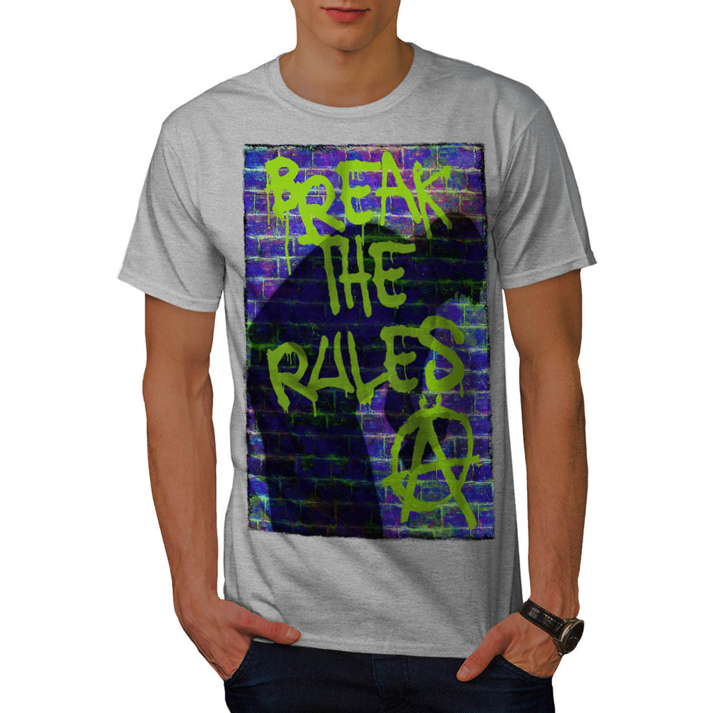 Break Rules Anarchy Mens T-Shirt