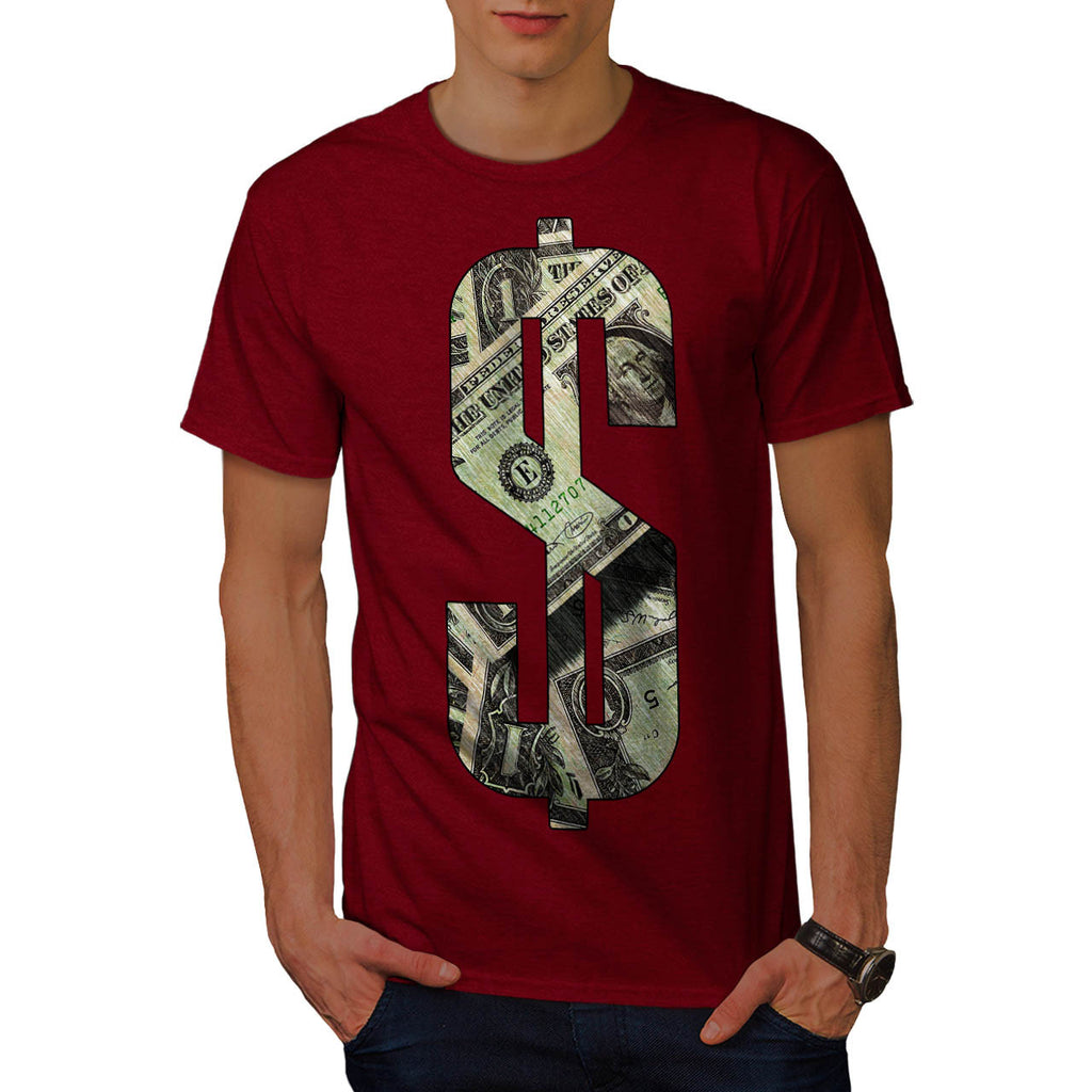 Dollar Bill Symbol Mens T-Shirt