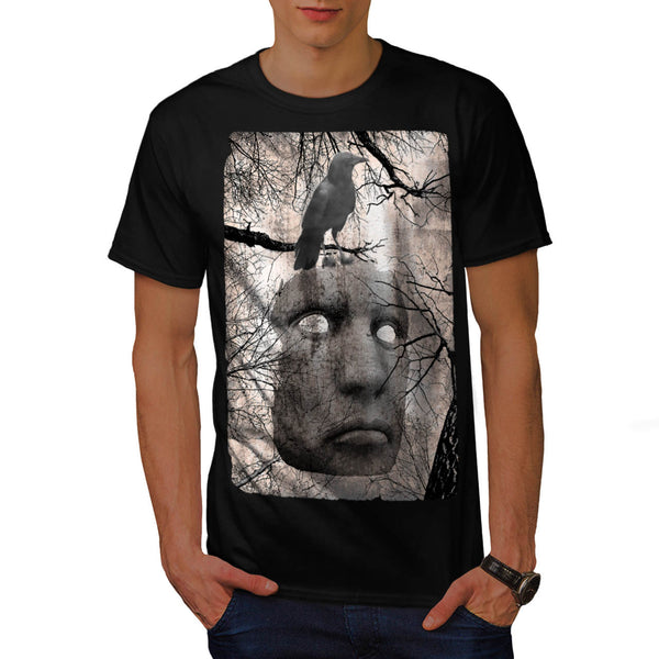 Surreal Spooky Mask Mens T-Shirt