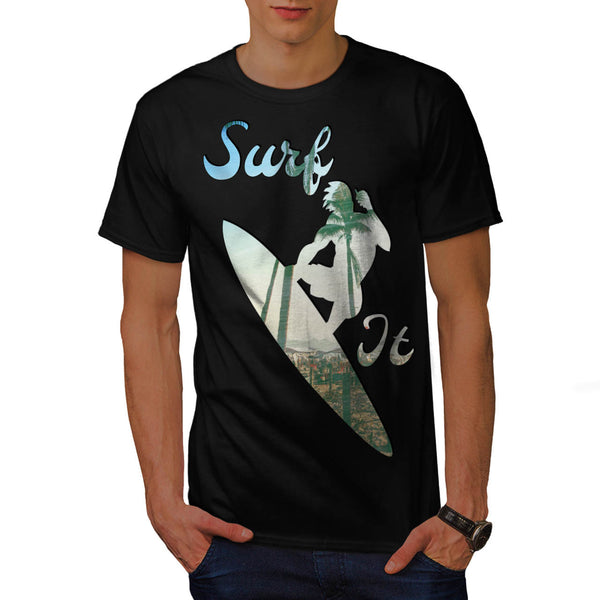 Ocean Wave Surfer Mens T-Shirt