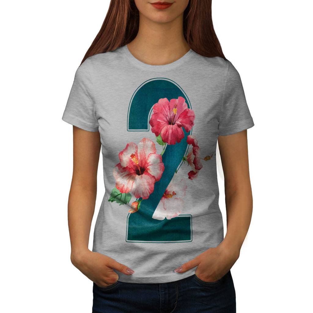 Number Two Flower Womens T-Shirt