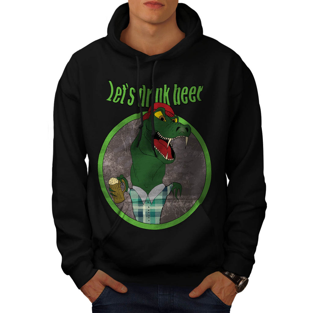 Let's Drink Beer Fun Mens Hoodie