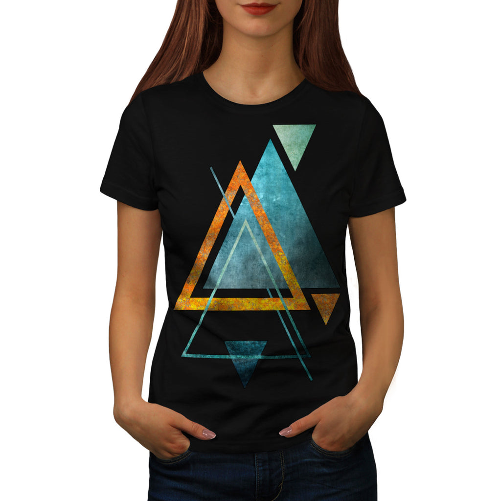 Abstract Triangle Womens T-Shirt