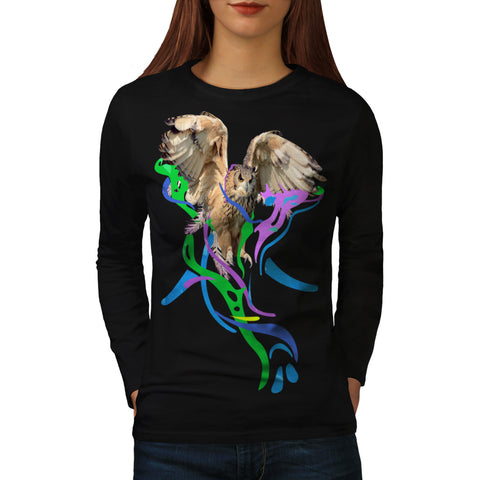 Feather Bird Color Womens Long Sleeve T-Shirt