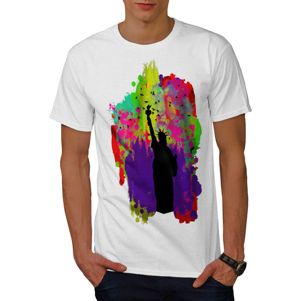 Lady Liberty Colour Mens T-Shirt