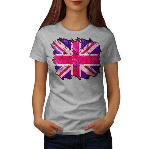 United Kingdom Heart Womens T-Shirt