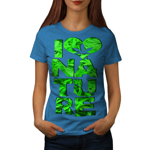 Nature Lover Heart Womens T-Shirt