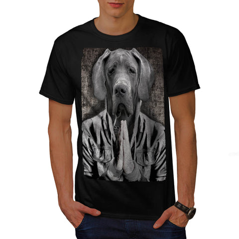 Sad Doggy Praying Mens T-Shirt
