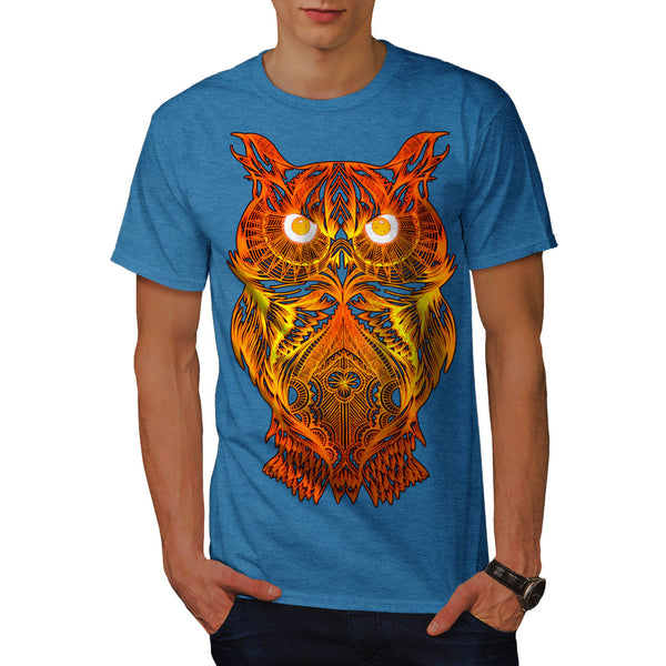Night Owl On Fire Mens T-Shirt