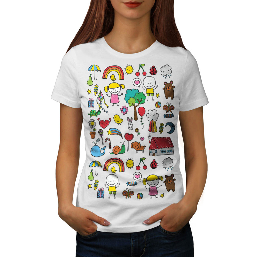 Cute Little Kids Dream Womens T-Shirt