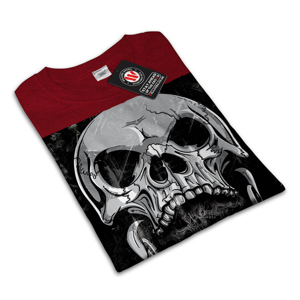 Skull Biker Tattoo Womens T-Shirt