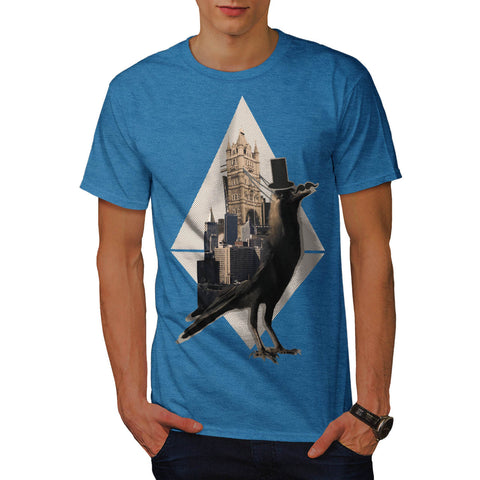 Bird In London City Mens T-Shirt