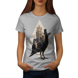 Bird In London City Womens T-Shirt
