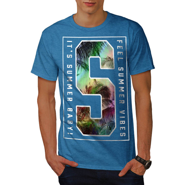 Sun Summer Vacation Mens T-Shirt