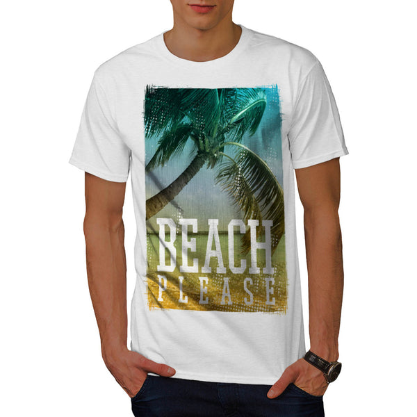 Beach Please Now Mens T-Shirt
