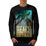 Beach Please Now Mens Long Sleeve T-Shirt