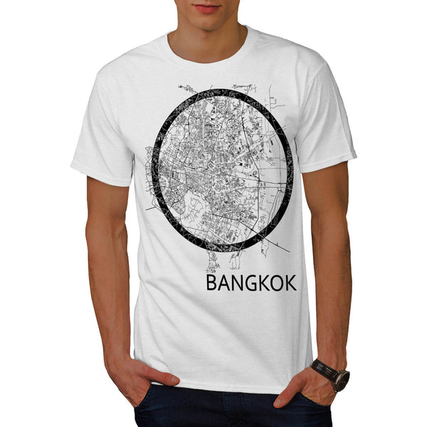 Thailand Bangkok Map Mens T-Shirt