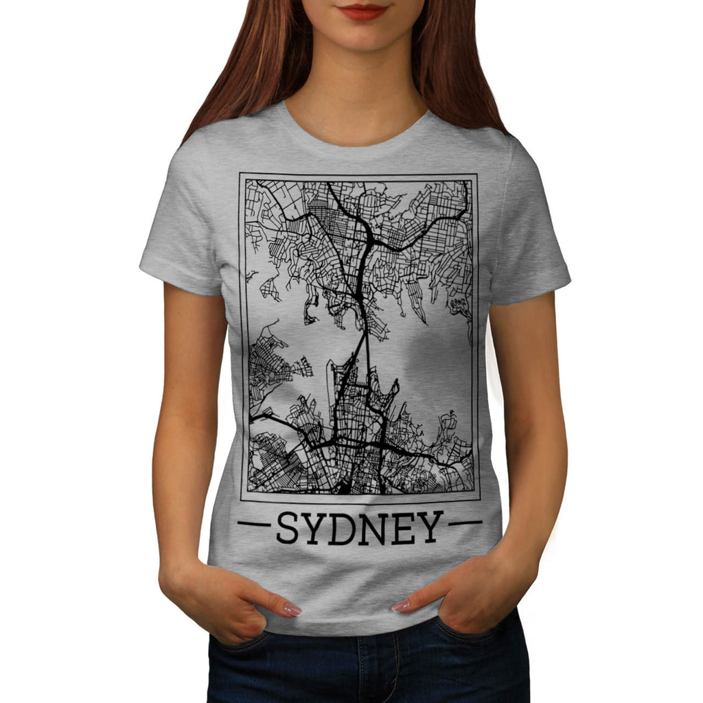 Australia Sydney Map Womens T-Shirt