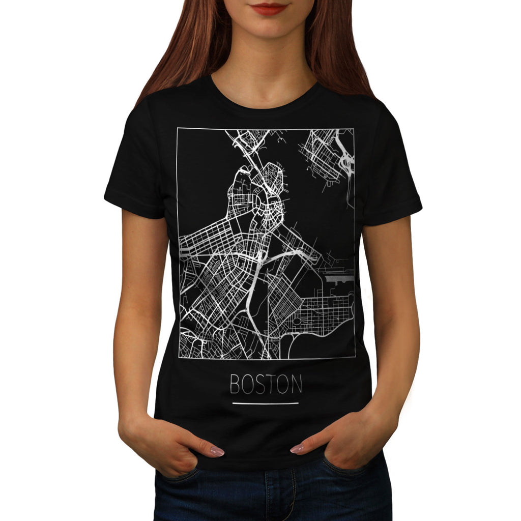 America City Boston Womens T-Shirt