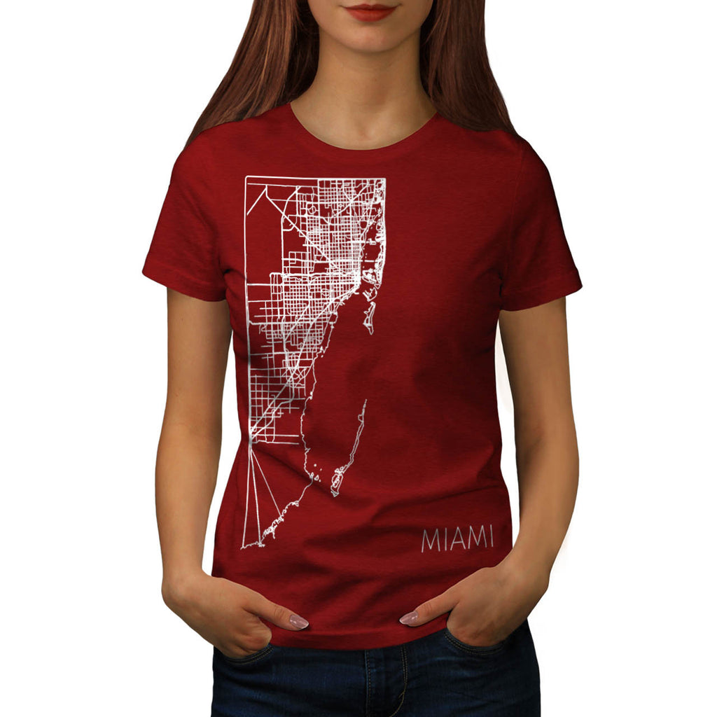 America Miami City Womens T-Shirt