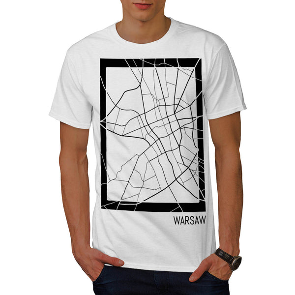 Poland City Warsaw Mens T-Shirt