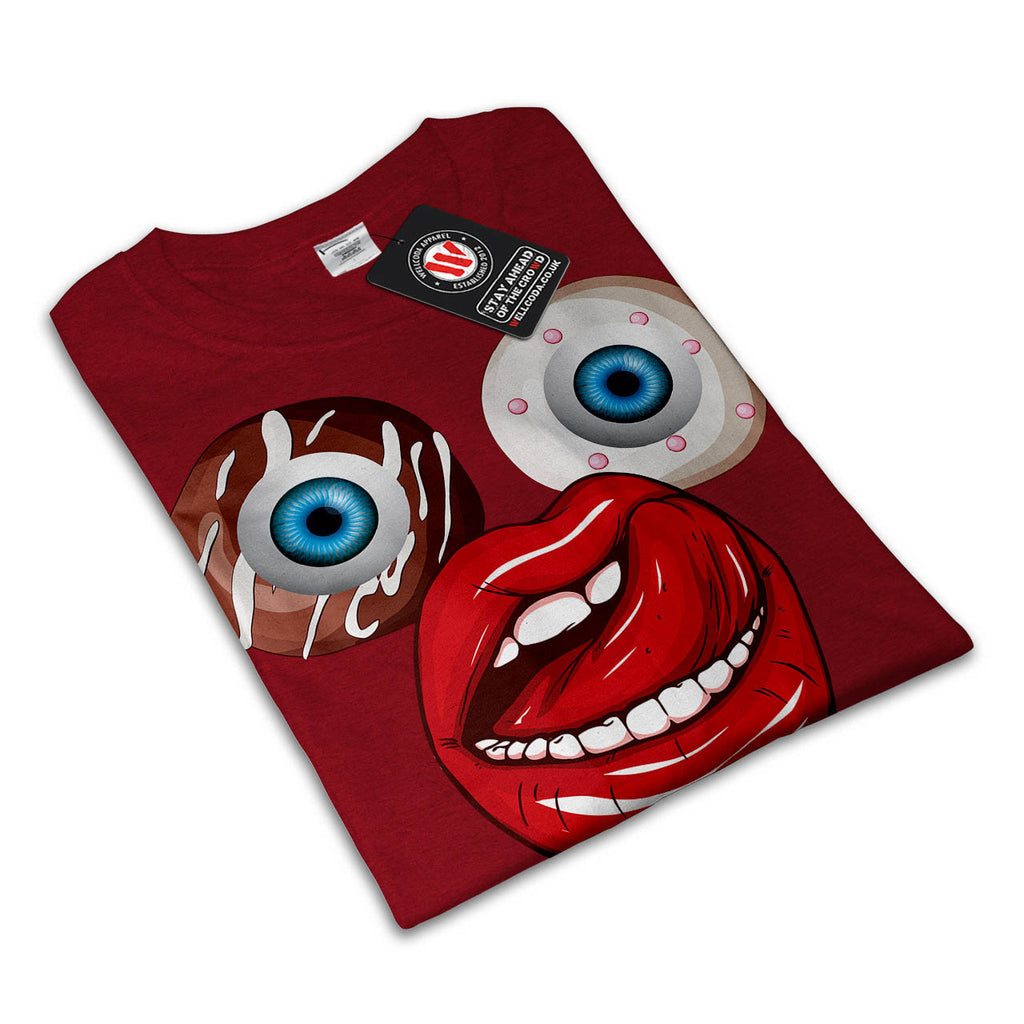 Donut Eyeball Face Womens T-Shirt