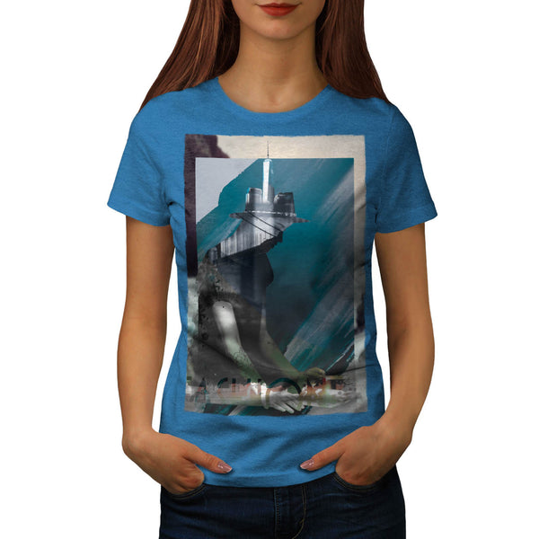 Portait City Human Womens T-Shirt