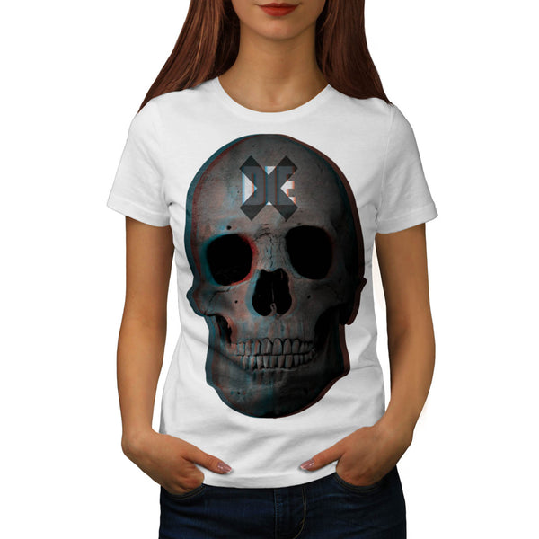 Skull Biker Head Art Womens T-Shirt