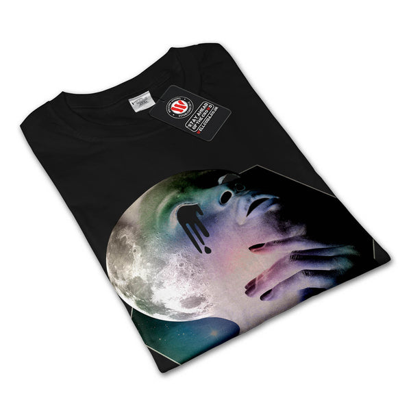 Psychedelic Girl Head Womens Long Sleeve T-Shirt