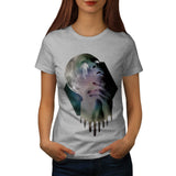 Psychedelic Girl Head Womens T-Shirt