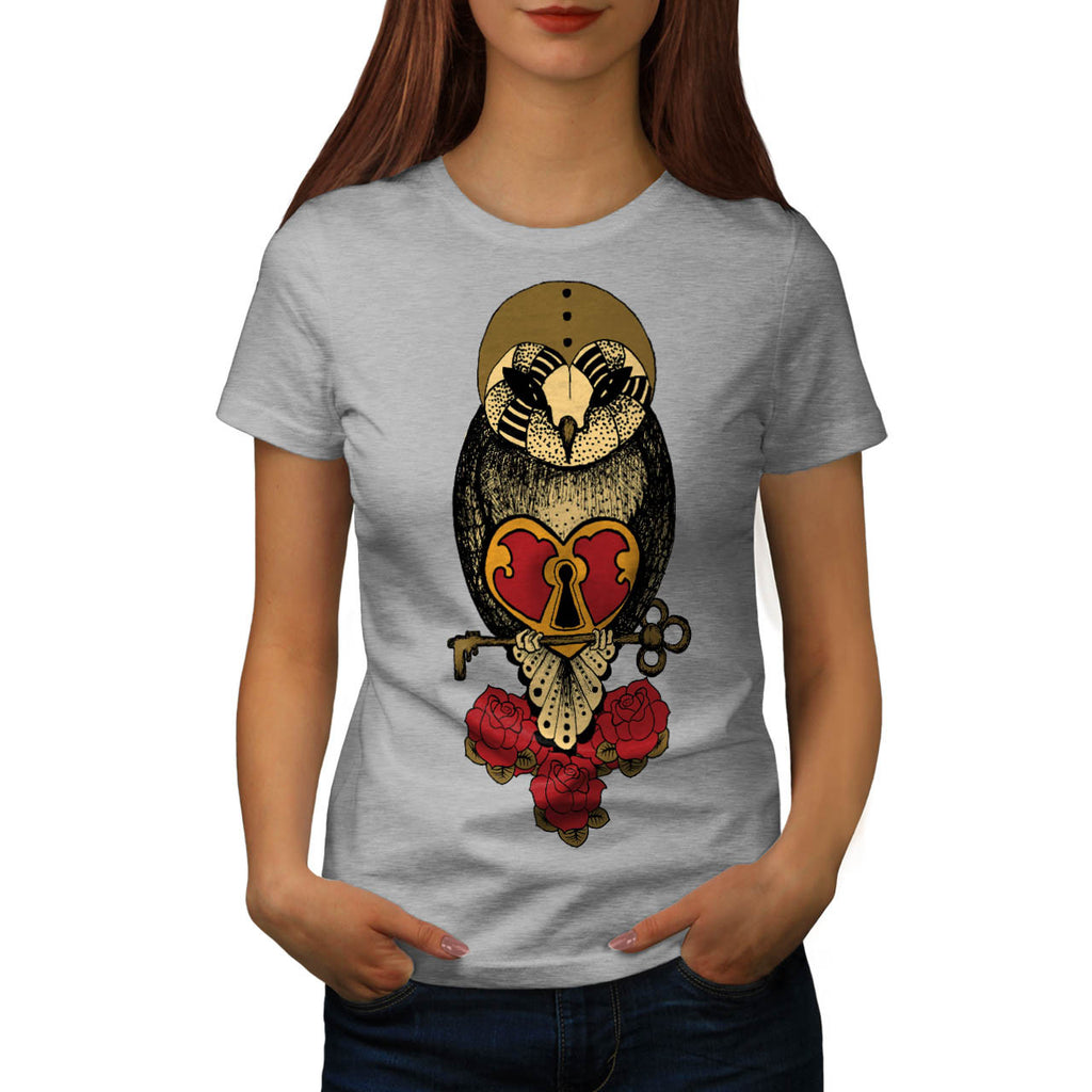 Old School Owl Rock Womens T-Shirt