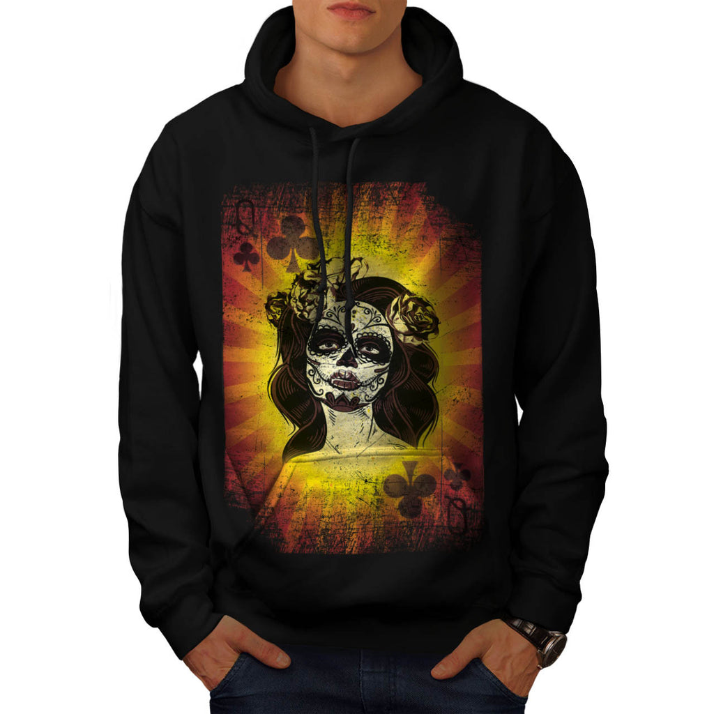 Queen Playing Card Mens Hoodie