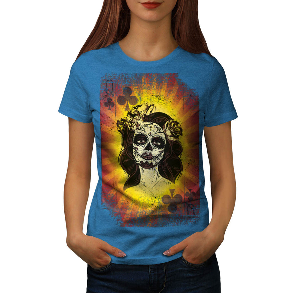 Queen Playing Card Womens T-Shirt